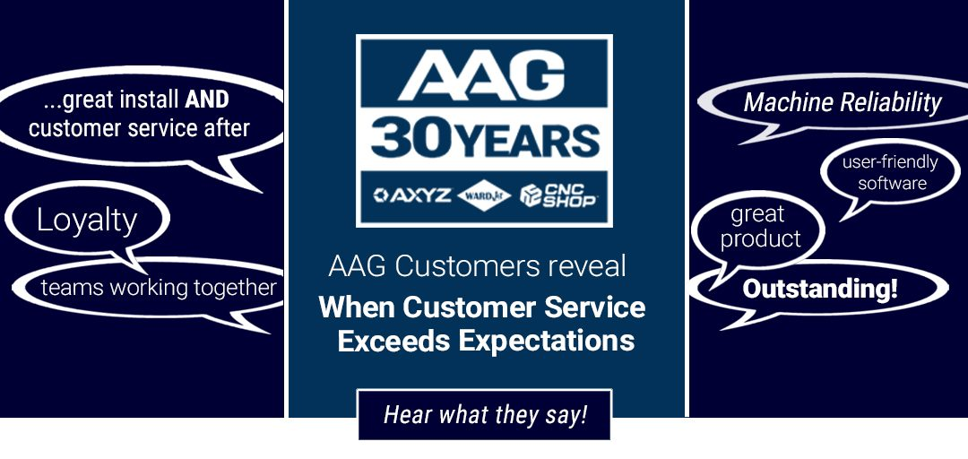 AAG 30th Years When Customer Service Exceeds Expectations blog